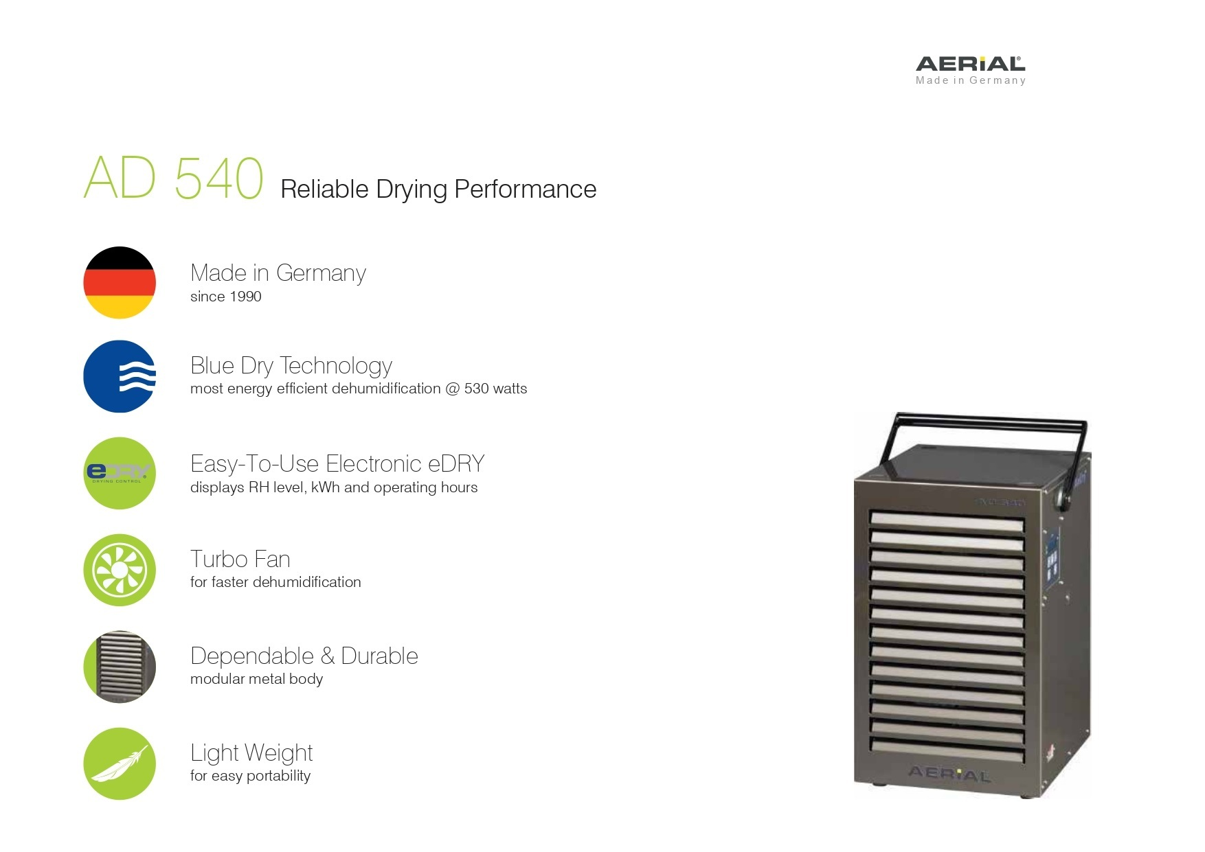 34Lit Electronic Portable Commercial Dehumidifier
