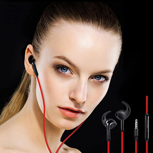 pTron Swift In-ear Sports Stereo Sound Wired Earphones with Mic