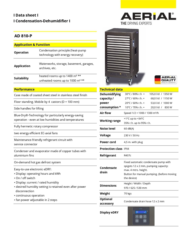 105 lit Heavy Industrial Dehumidifier
