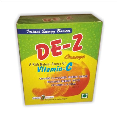 Orange Flavoured Energy Drink Powder