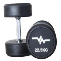 Black Rubber Imported Exercise Dumbbell