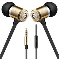 pTron Unison In-Ear Metal Stereo Sound Earphones with Mic (Gold)