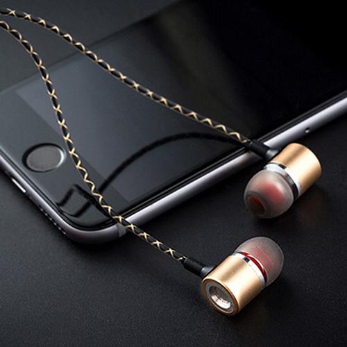 pTron Flux In-Ear Stereo Sound Earphones for Type-C Smartphones (Gold)