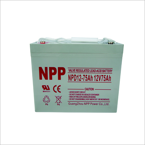 12V75Ah Valve Regulated Lead Acid Battery