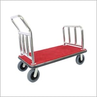 Hotel Lobby Luggage Trolley Cart