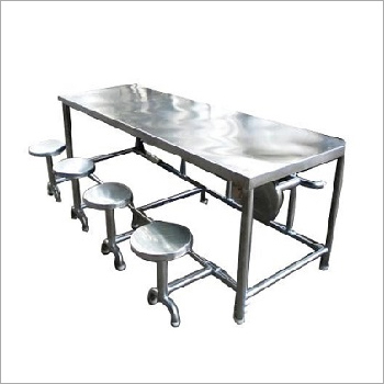 Stainless Steel Kitchen Canteen Table And Chair