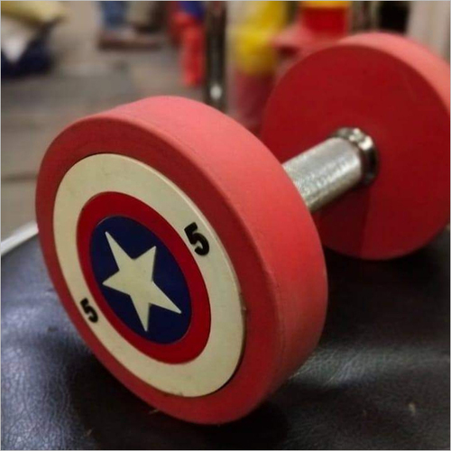 Rubber Coated Gym Dumbbell