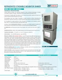 Refrigerated Stackable Incubator Shaker