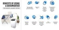 20Lit Compact Dehumidifier Air Purifier