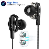 pTron Boom 3 Dual-Driver In-Ear Wired Headphones with Bass & Mic