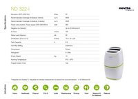 22Lit Electronic Compact Dehumidifier Air Purifier