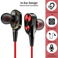 pTron Boom 2 Dual-Driver In-Ear Wired Earphones with Bass & Mic