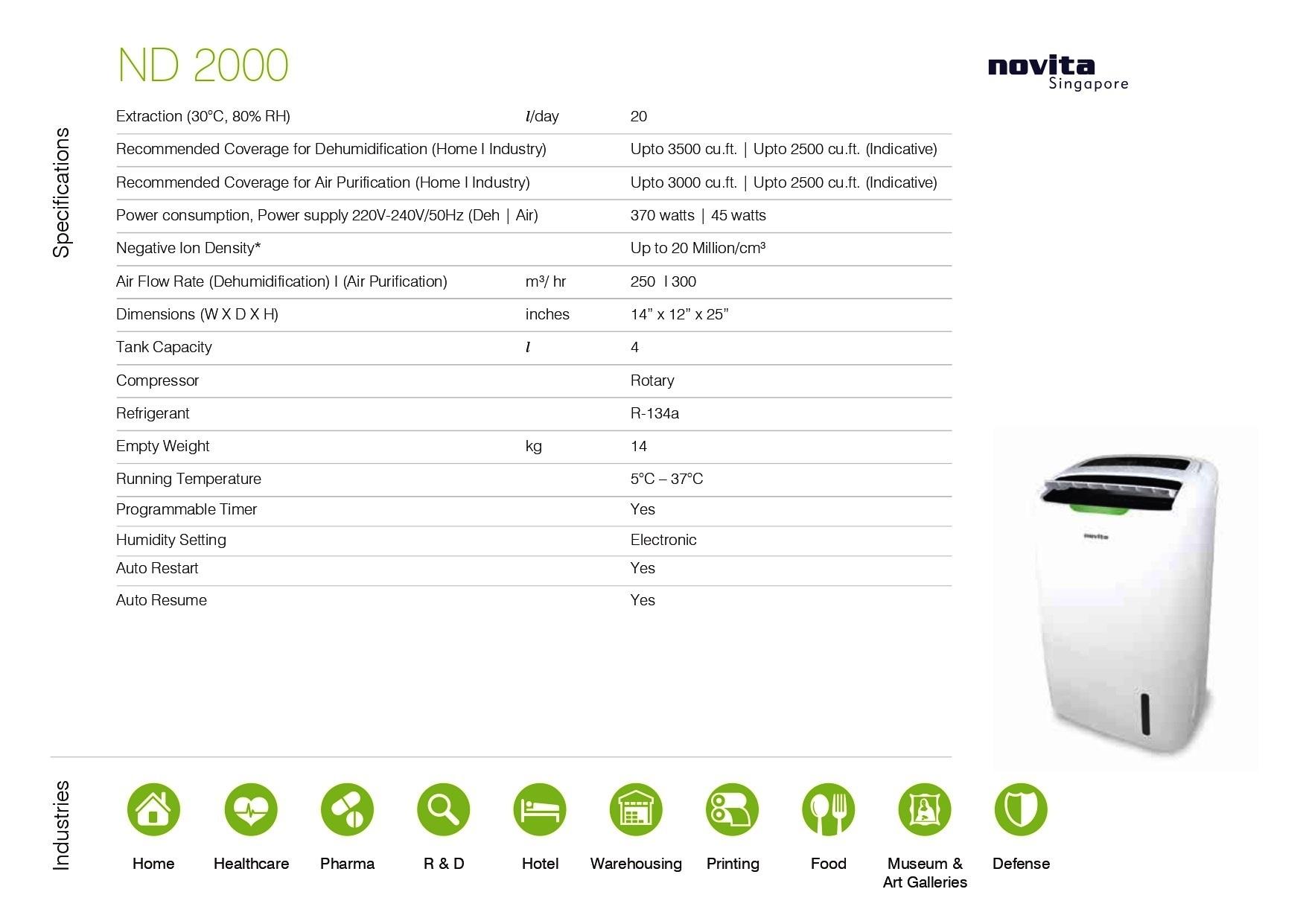 20Lit Dehumidifier + 5 Stage Air-purifier + Ionizer