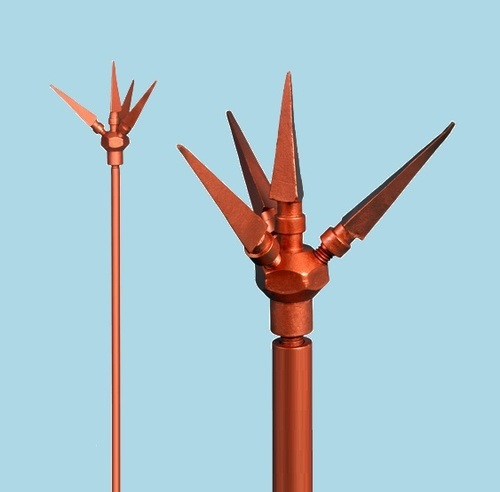 Copper Bonded  Spike Lightning Arrester