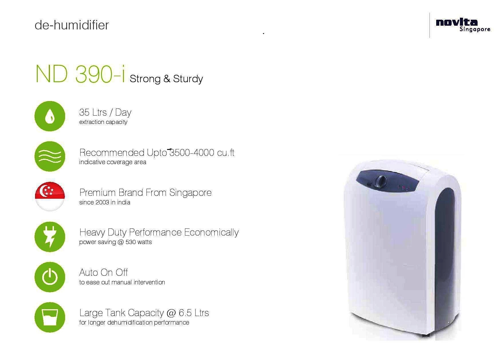 Portable Heavy Duty Dehumidifier with Carbon Filter