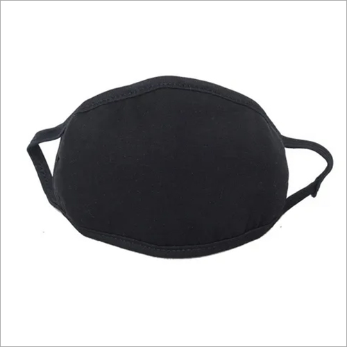 Cold Black Cotton Reusable Dust Face Mask