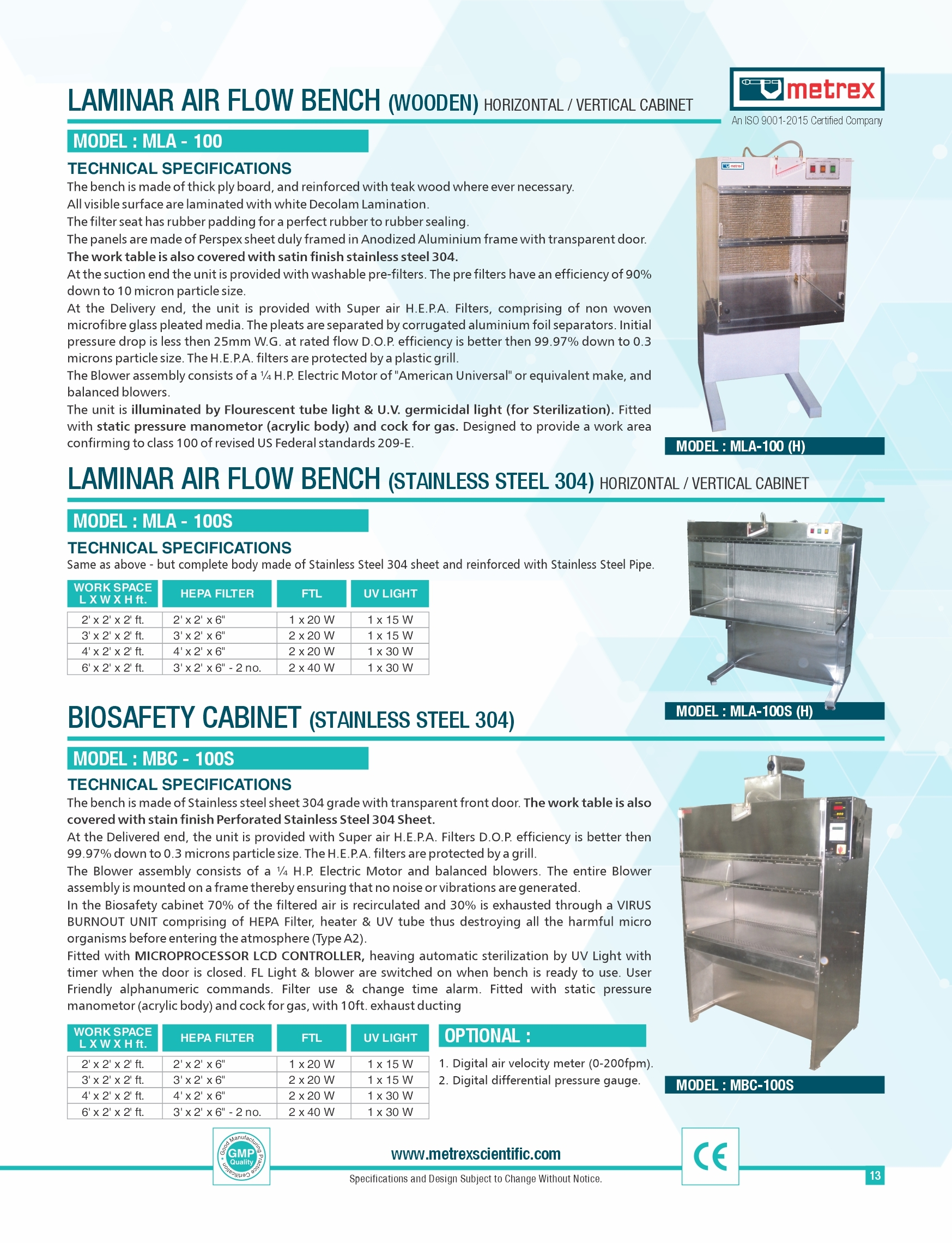 Laminar Air Flow Bench ( Wooden )