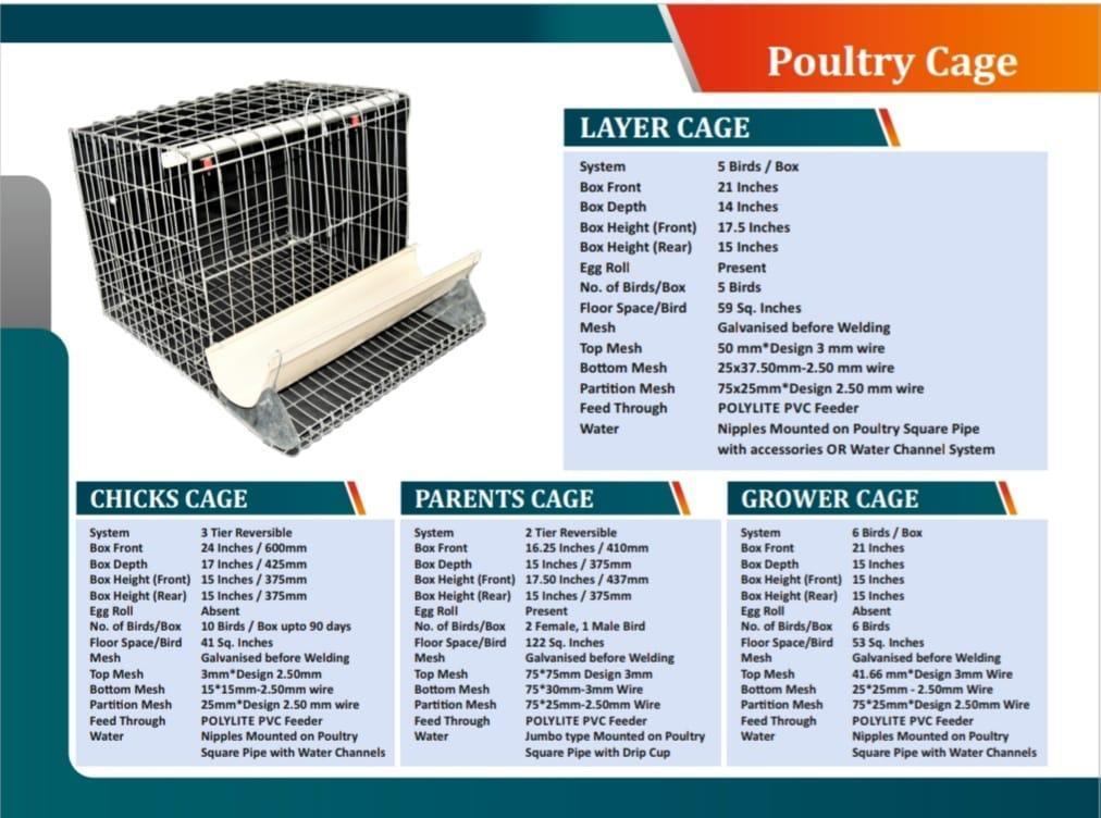 Chicks Cum Grower Cage