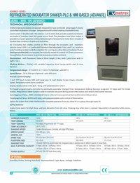Refregerated Incubator Shaker  Plc & Hmi Based