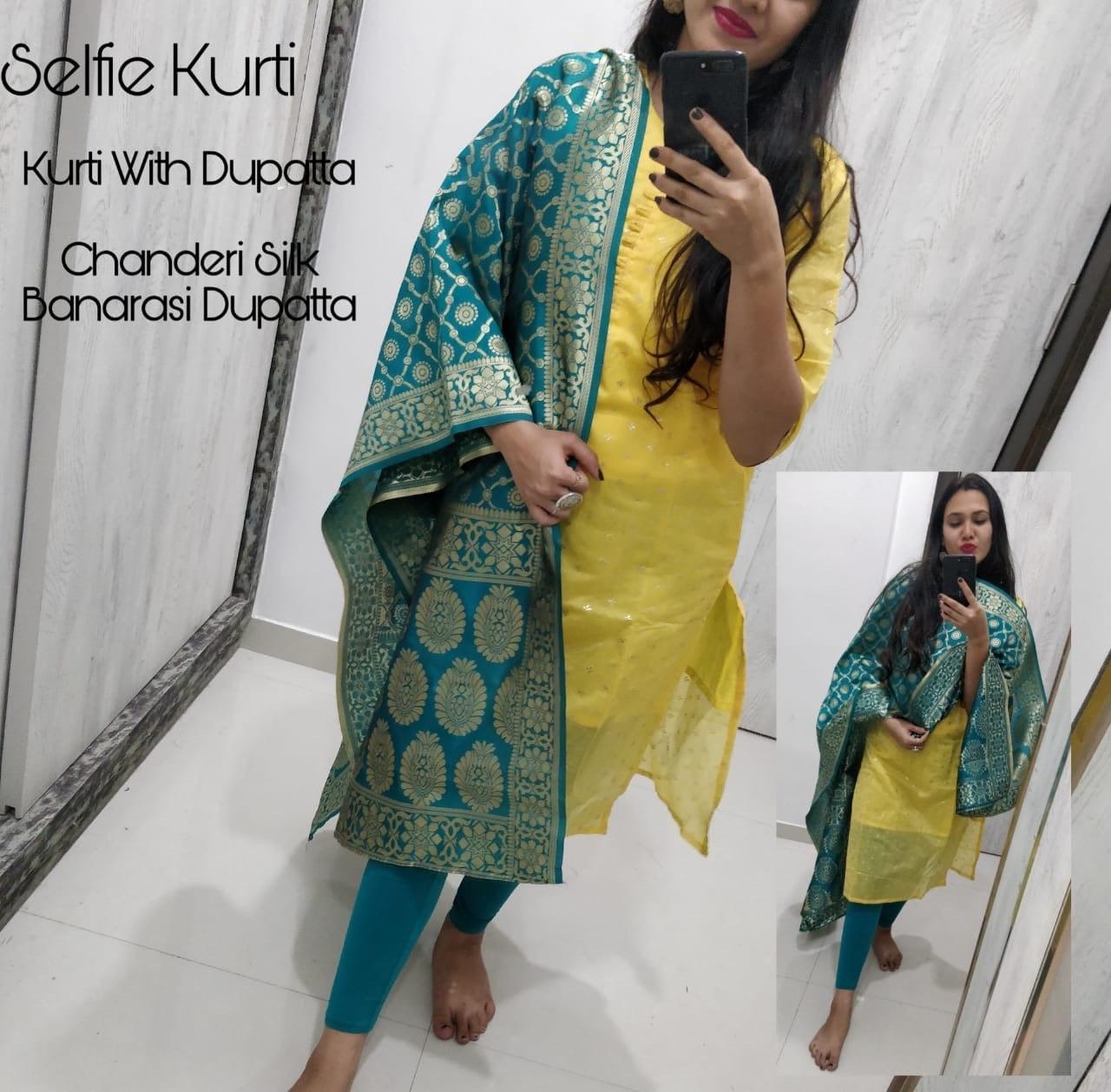 Chanderi kurti