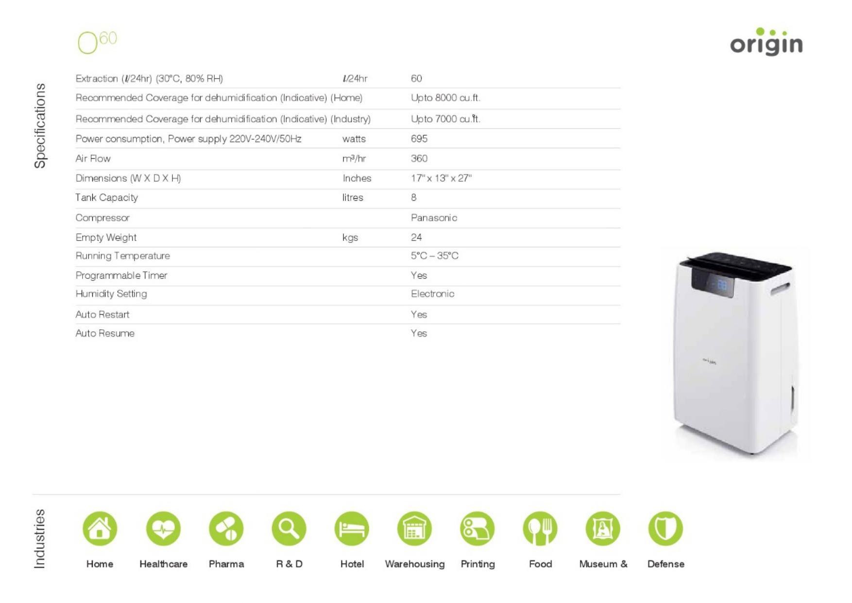 Heavy Duty Industrial Dehumidifier with Ionizer