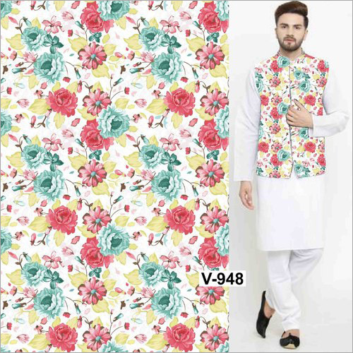Digital Printed Nehru Jacket Fabric