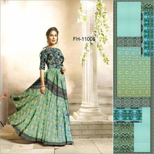 Digital Print Long Gown
