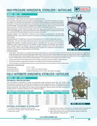 High Pressure Horizontal Sterilizer / Autoclave