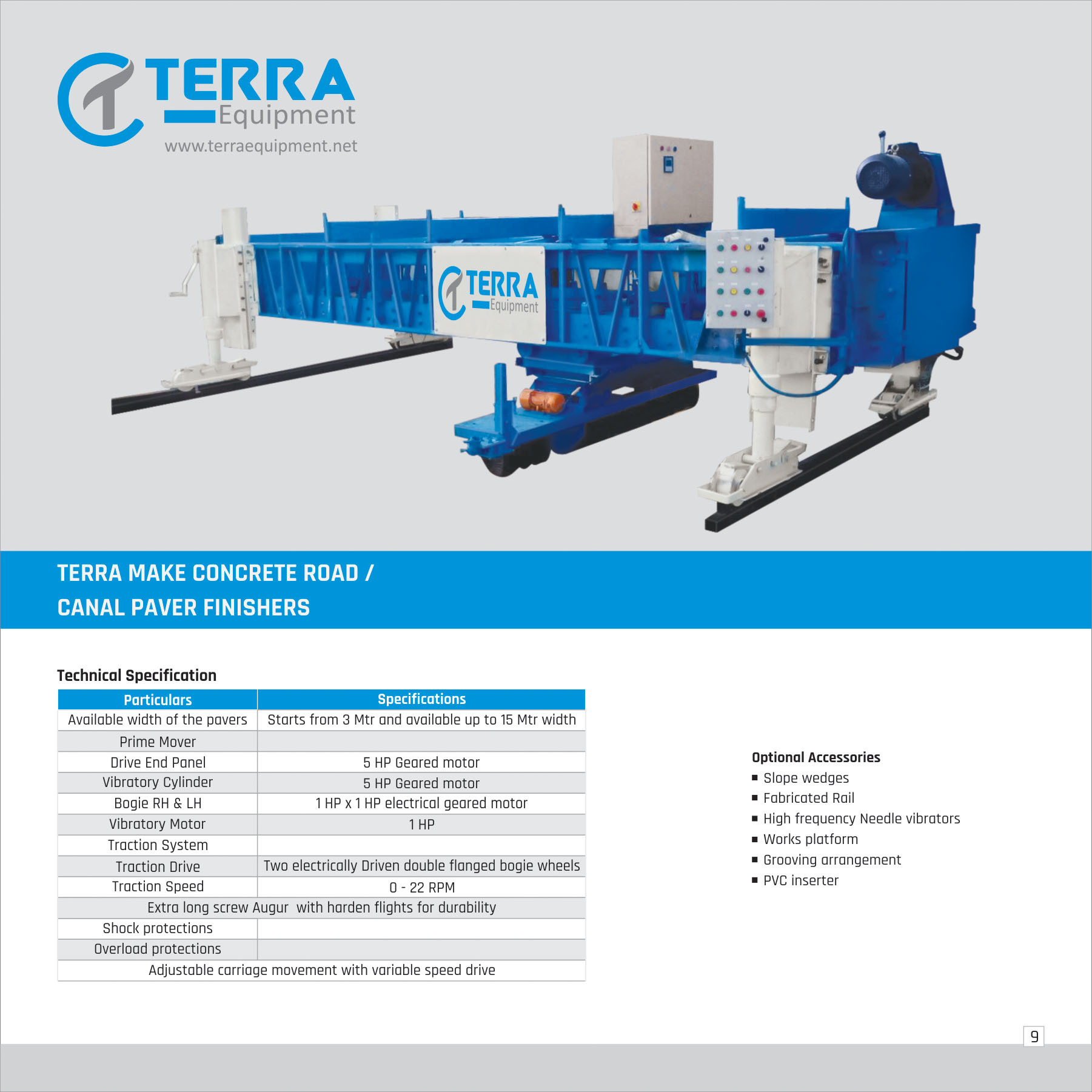Concrete Canal Paver Finisher