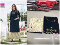 Fancy kurti with plazzo Pant pair