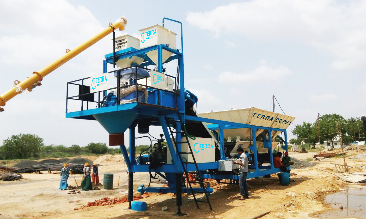 Automatic Mobile concrete batching plant