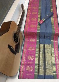 Soft kanchipuram silk weaving saree