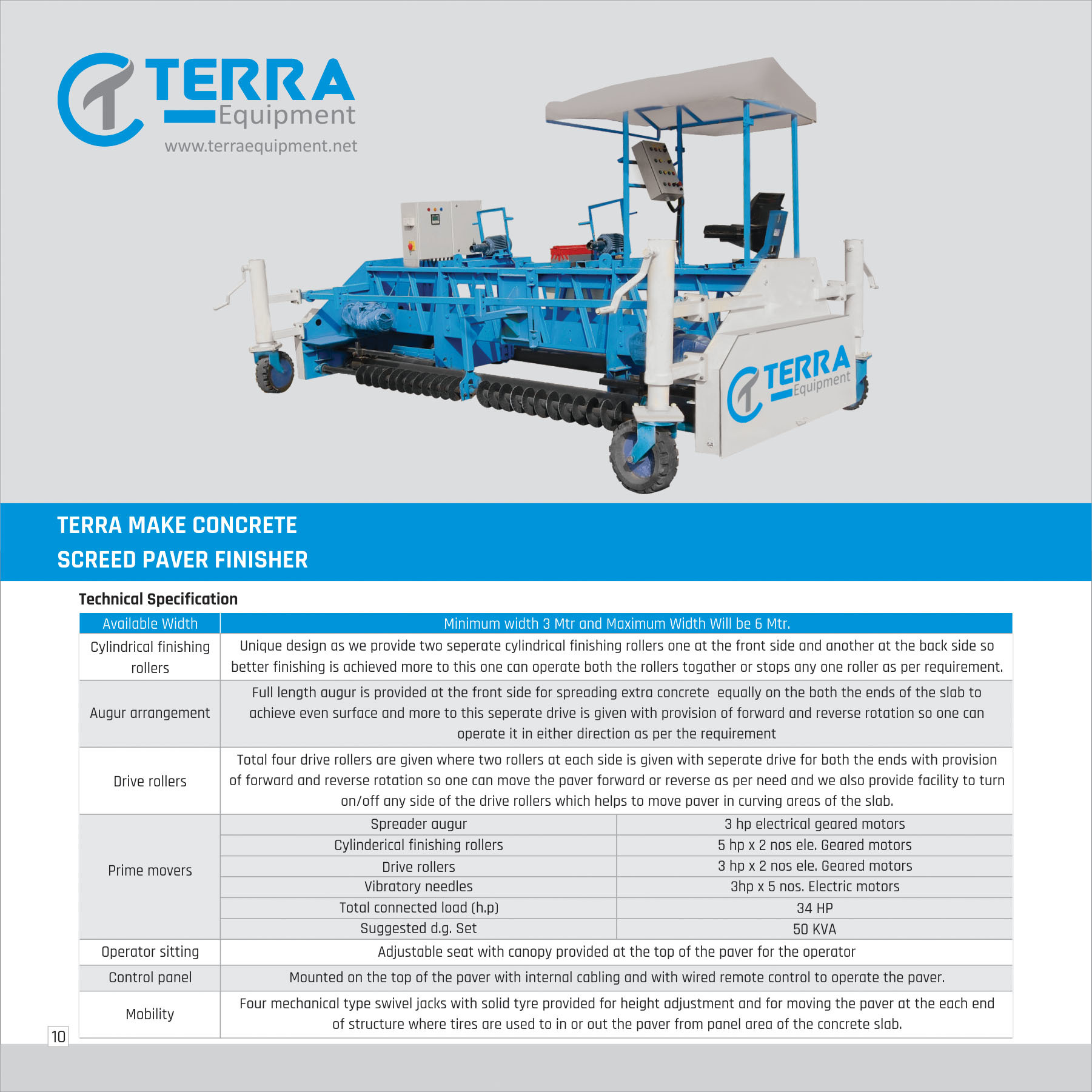 Concrete Screed Paver Finisher