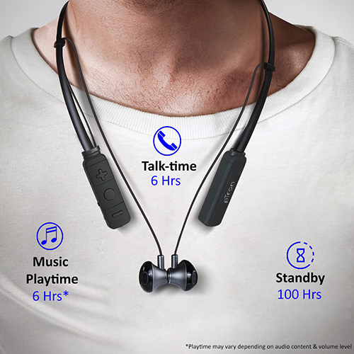 pTron Tangent Pro Magnetic Stereo Bluetooth Earphones with Mic