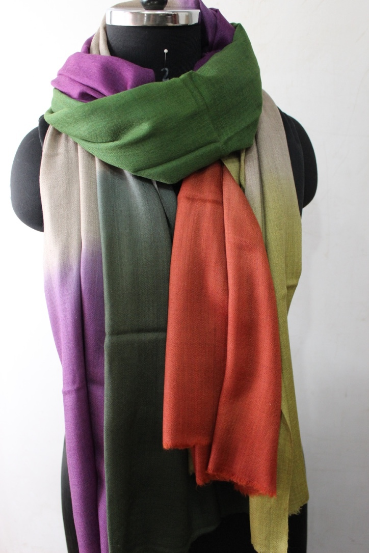 Ombre shaded Pashmina Stole , Size-70x200cm