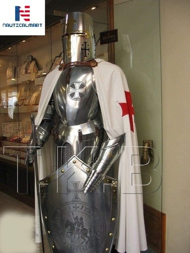 Nautical Mart Medieval Wearable Knight Crusader Full Suit of Armour Collectibles Armor Costume