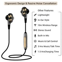 pTron BT Boom Dual-Driver Stereo Sound Bluetooth Headphones with Mic