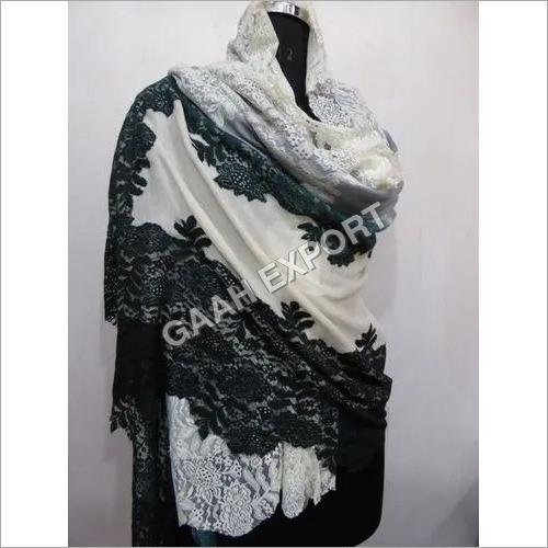 Fine Wool Australian Lace Shawls , Size-90x220cm