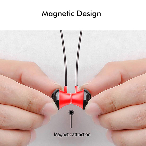 pTron InTunes Pro Magnetic In-Ear Wireless Earphones with Mic