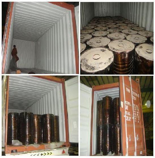 Bitumen in drums