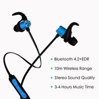 PTron Spark Pro Magnetic Stereo Sound Wireless Earphones with Mic