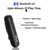 PTron Echo Compact Bluetooth Wireless Adapter for Smartphones & Tablets