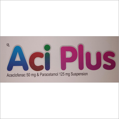 Aceclofenac 50 mg & Paracetamol 125 mg Suspension