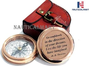 Brass Compass Go Confidently in The Direction of Your Dreams Engraved Compass for Confirmation Gifts, Baptism Gifts, Best Easter, Birthday Gifts, Graduation Gifts, Wedding Gifts, Religious Gifts