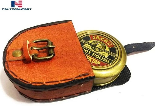 NauticalMart Brass Compass Jacko Boot Polish Darktan Stain Compass