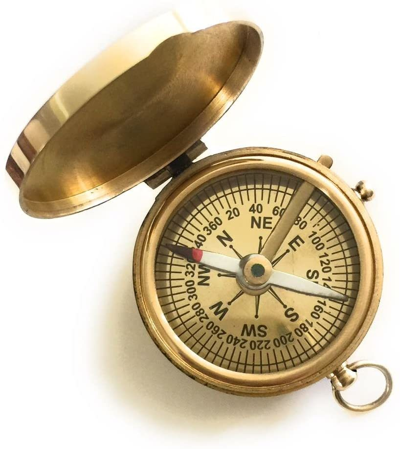 Brass Compass Pocket Style Limited Edition- Baptism Gift - Christmas Gift- Holiday's Gifts