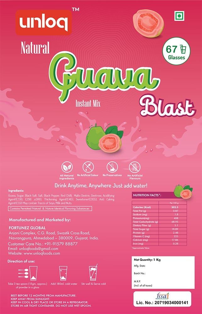 Instant Guava Blast Premix Powder