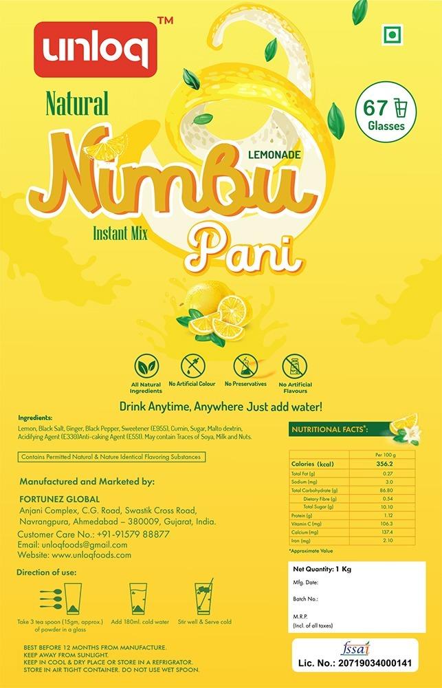 Instant Nimbu Pani Lemonade Premix Powder