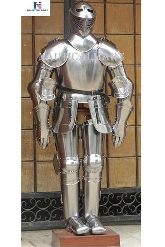 NauticalMart Medieval Knight Full Suit of Armor Combat Body Armour Costume IOTC Armoury