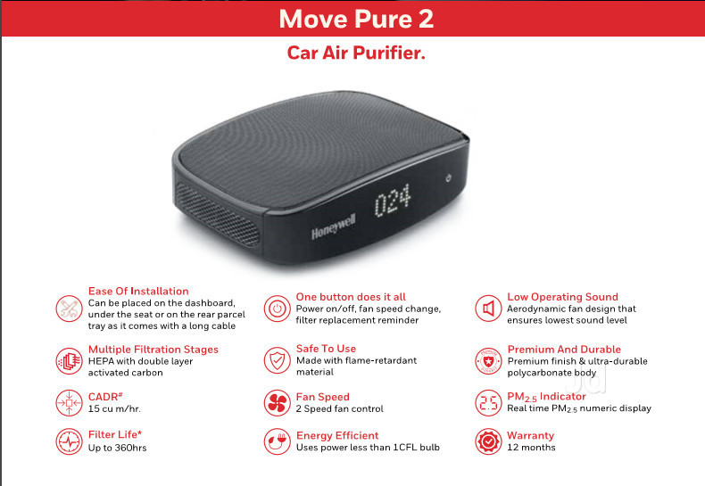 Move Pure 2 Car Air Purifier